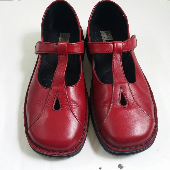Josef Seibel Red Leather Comfort Shoes